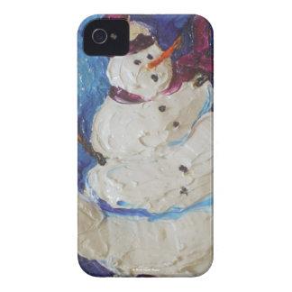 Caja de Blackberry del muñeco de nieve del Funda Para iPhone 4
