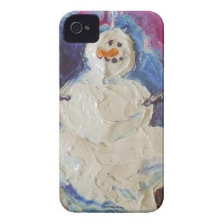 Caja de Blackberry del muñeco de nieve del Funda Para iPhone 4 De Case-Mate