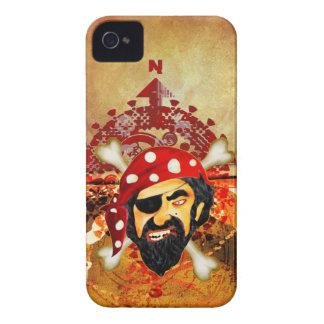 Caja de Blackberry del pirata Carcasa Para iPhone 4