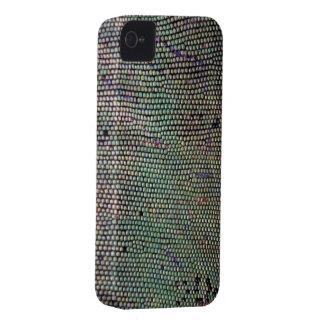 Caja de Blackberry del reptil de la piel del iPhone 4 Protectores