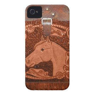 "Caja de Blackberry occidental del ""caballo"" iPhone 4 Case-Mate Fundas"