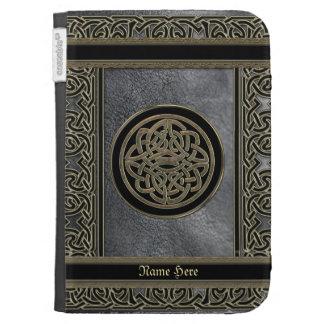 Caja de cadena céltica personalizada del cuero y d