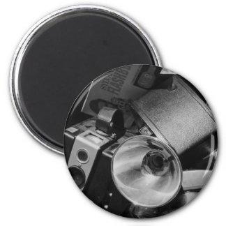 Caja de cámaras viejas de Kodak Imán Redondo 5 Cm