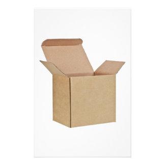 Caja de cartón abierta personalized stationery