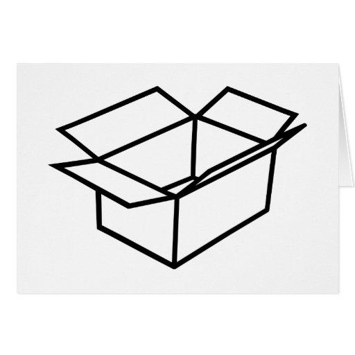 Caja de cartón tarjeta de felicitación