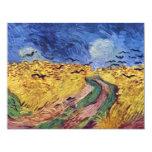 Caja de cereal con los cuervos de Vincent van Gogh Invitacion Personal