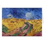 Caja de cereal con los cuervos de Vincent van Gogh Felicitacion