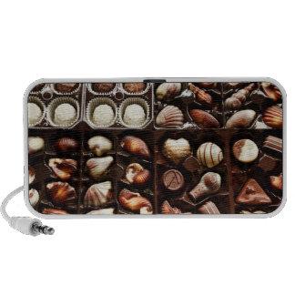 Caja de chocolate notebook altavoz
