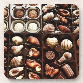 Caja de chocolate posavasos
