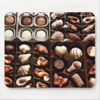 Caja de chocolate tapete de ratón