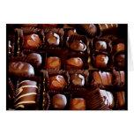 Caja de chocolates, caramelo de chocolate de la tarjeta de felicitación