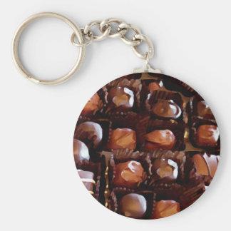 Caja de chocolates, caramelo de chocolate de la te llavero