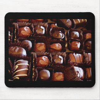 Caja de chocolates, caramelo de chocolate de la te alfombrilla de raton