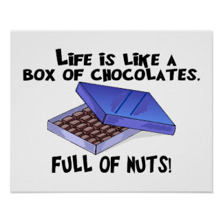 Caja de chocolates impresiones