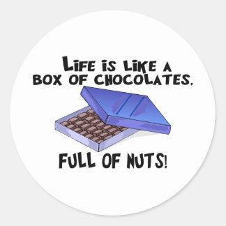 Caja de chocolates etiqueta