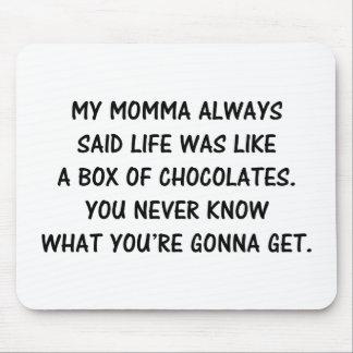 Caja de chocolates mousepads
