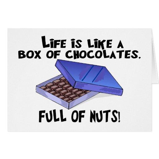 Caja de chocolates tarjeta de felicitación