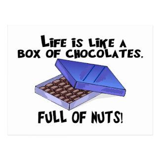 Caja de chocolates postales