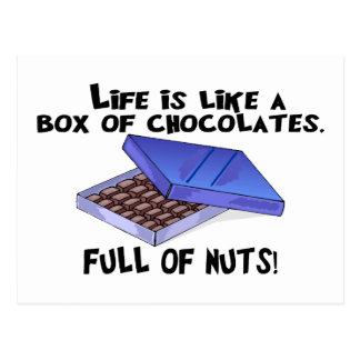 Caja de chocolates tarjetas postales