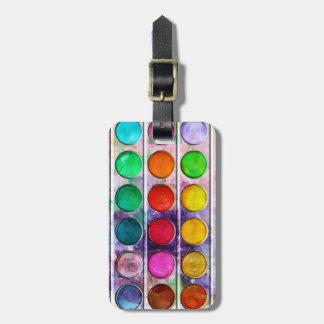 Caja de color colorida de la pintura de la diversi etiquetas para equipaje