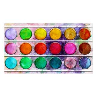 Caja de color colorida de la pintura de la diversi tarjetas de visita
