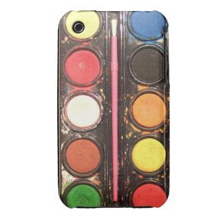 Caja de color colorida de la pintura del artista Case-Mate iPhone 3 funda