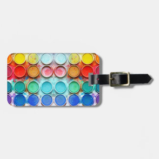 Caja de color de la pintura de la diversión etiquetas para maletas