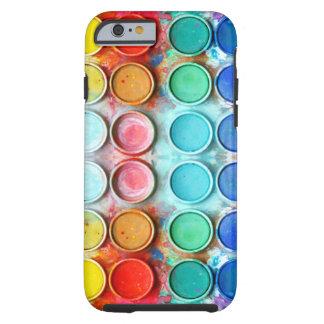 Caja de color de la pintura de la diversión funda de iPhone 6 tough