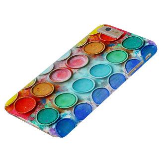 Caja de color de la pintura de la diversión funda de iPhone 6 plus barely there