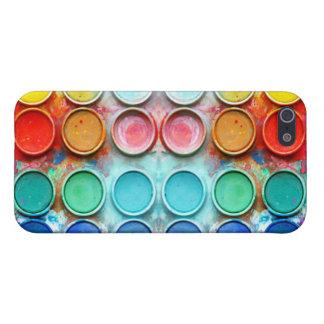 Caja de color de la pintura de la diversión iPhone 5 cárcasa