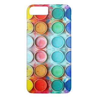 Caja de color de la pintura de la diversión funda iPhone 7 plus