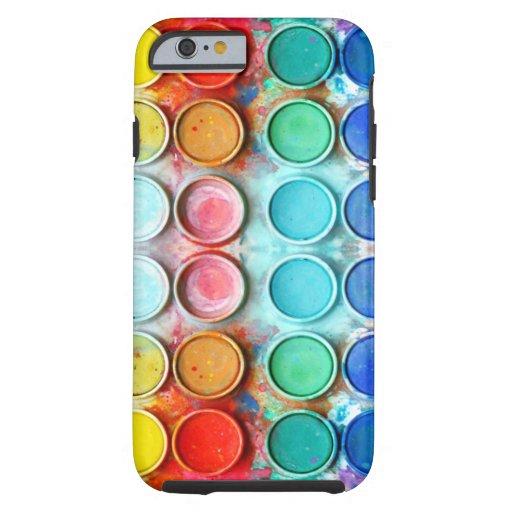 Caja de color de la pintura de la diversión funda resistente iPhone 6