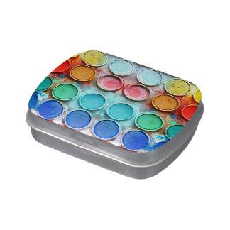 Caja de color de la pintura de la diversión latas de caramelos