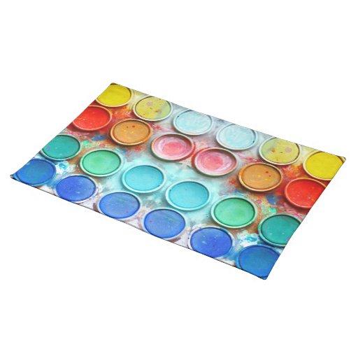 Caja de color de la pintura de la diversión manteles