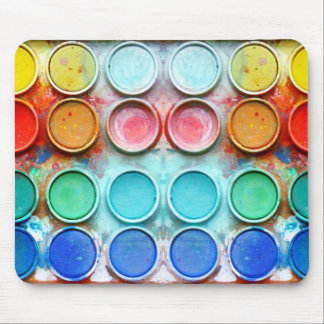 Caja de color de la pintura de la diversión tapete de ratones