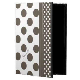 Caja de color topo y blanca del aire 2 del iPad