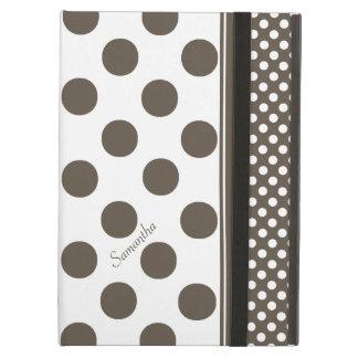 Caja de color topo y blanca del aire del iPad del