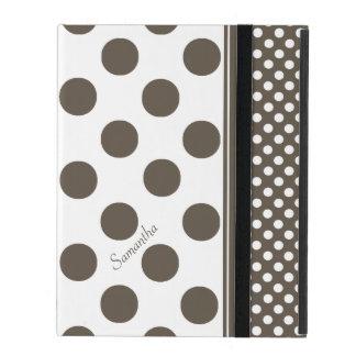 Caja de color topo y blanca del iPad del modelo de