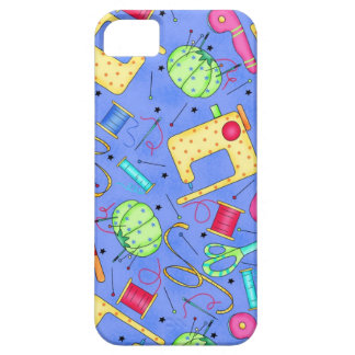 Caja de costura azul del iPhone de las nociones de iPhone 5 Case-Mate Protector