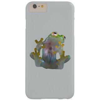 Caja de cristal del teléfono de la rana funda de iPhone 6 plus barely there