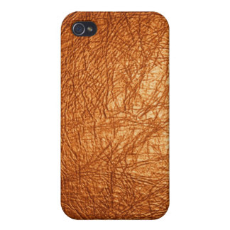 caja de cuero anaranjada de Iphone de la textura iPhone 4/4S Fundas