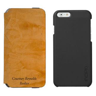 Caja de cuero bronceada de la cartera funda billetera para iPhone 6 watson