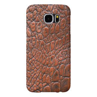 Caja de cuero de la galaxia S6 de Browny Samsung Fundas Samsung Galaxy S6