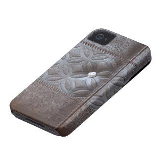 caja de cuero del diario - monedero Case-Mate iPhone 4 coberturas