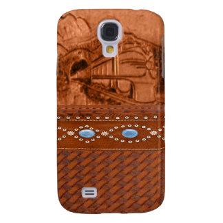 Caja de cuero equipada de IPhone 3 del tren Funda Para Samsung Galaxy S4