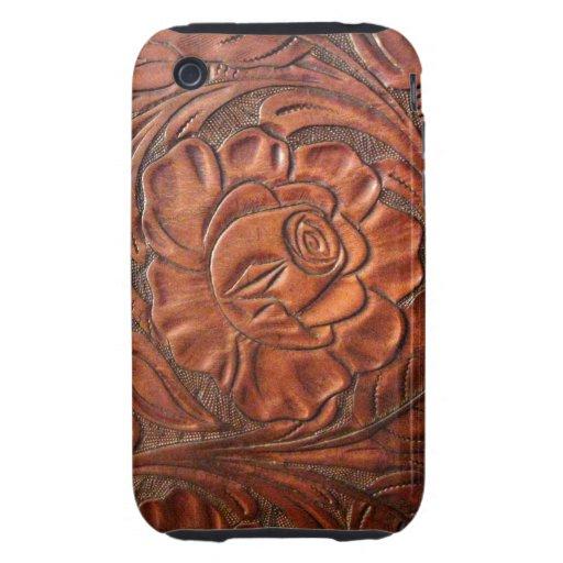 Caja de cuero equipada del teléfono de S iPhone 3 Tough Carcasas