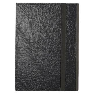 Caja de cuero negra del aire del iPad de la textur