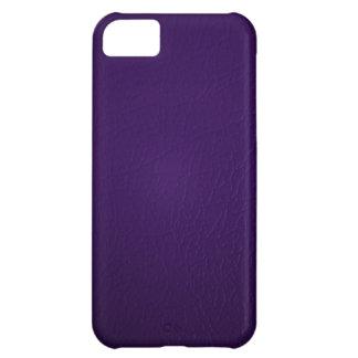 Caja de cuero púrpura del iPhone 5 de la mirada Funda Para iPhone 5C