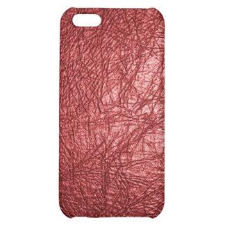 caja de cuero roja de Iphone de la textura