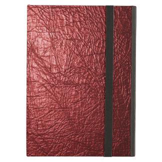 Caja de cuero roja del aire del iPad de la textura